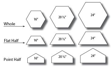 Hexagonal Pavers Sizes Concrete Paver Sizes
