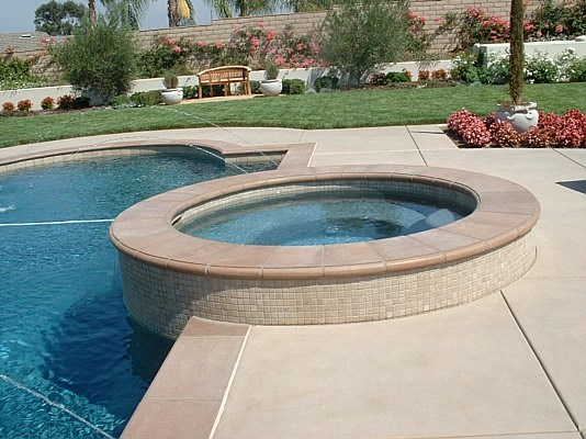 classic pool coping, concrete pool cooping