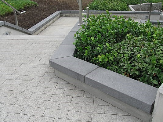 Cement Wall Caps : Square modular wall cap concrete caps